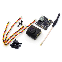 HGLRC XJB-ELF Mini CCD FPV Camera with TX20 V2 5.8GHz Transmitter 25-350mW Combo