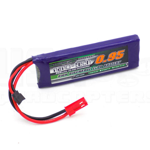 Turnigy Nano-Tech 950mAh 1S LiPo 25C 50C JST Plug for Walkera V120 X100