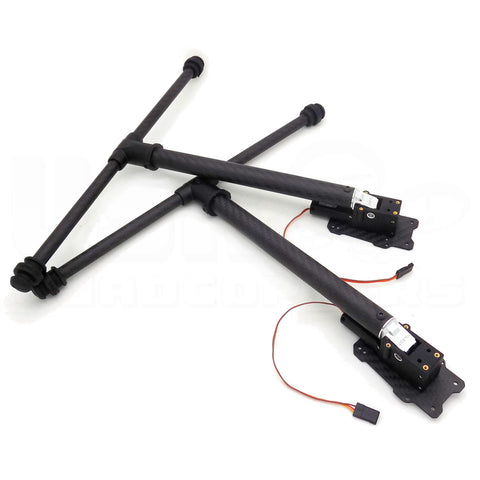 2pcs Tarot Retract Folding Carbon Fiber Landing Gear for 400-500mm Drone Frame