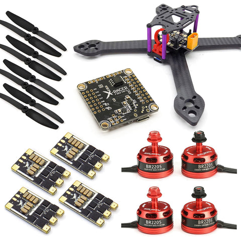210mm FPV Racing Drone Kit with F3 Flight Controller, 2205 Motors, 30A ESC 2-4S