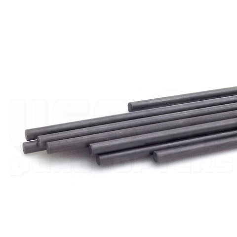3pcs 4mm Pure Carbon Fiber Rod 400mm Length Solid Lightweight Spar Support