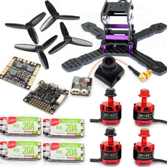 130mm FPV Racing Drone Kit F3 Flight Controller 1407 Motors 20A ESC 2-4S Camera+