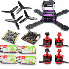 130mm FPV Racing Drone Kit with F3 Flight Controller, 1407 Motors, 20A ESC 2-4S