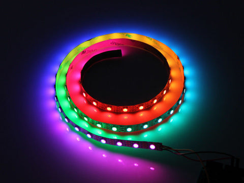 12v RGB LED Lighting Kit 1 Meter LEDs w/ 2 Color/Effect Controller Modules