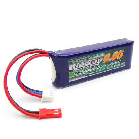 Turnigy Nano-Tech 950mAh 2S LiPo Battery Pack 25C 50C JST Connector Plug