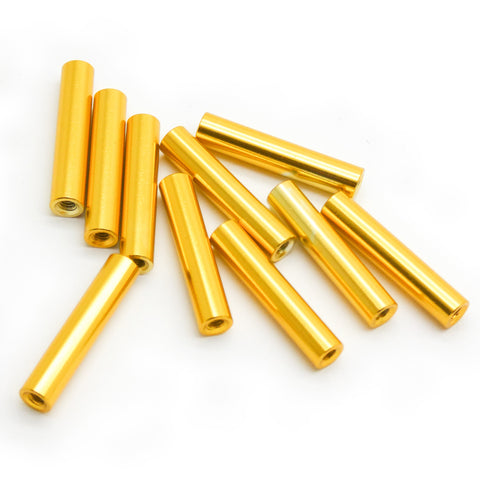 10pcs M2x20mm Aluminum Spacer Standoff (Gold Anodized)