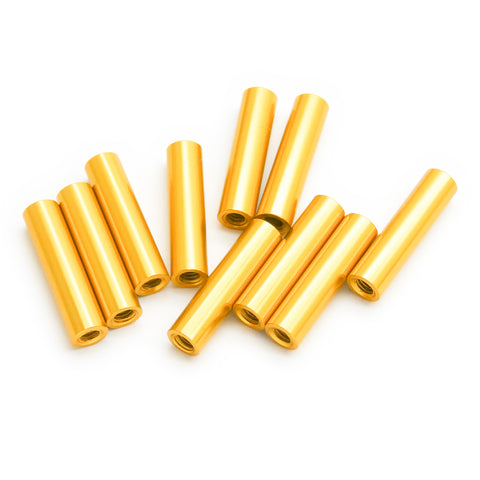10pcs M3x20mm Aluminum Spacer Standoff (Gold Anodized)