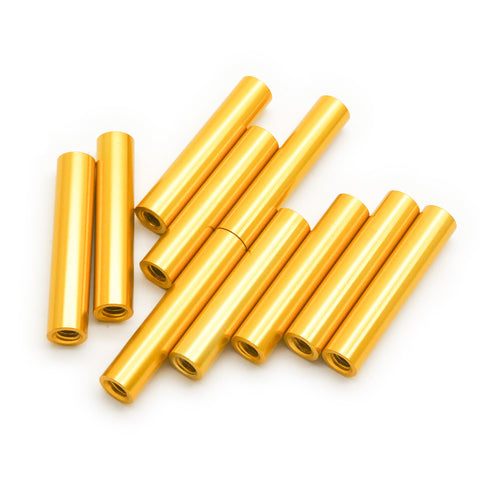 10pcs M3x30mm Aluminum Spacer Standoff (Gold Anodized)