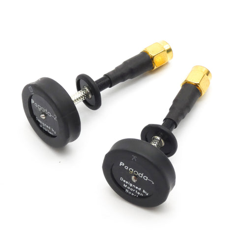2pcs Pagoda 2 5.8GHz Omni-Directional Circular Polarized FPV Antenna RP-SMA (Short Lead)