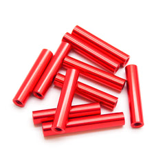 10pcs M3x25mm Aluminum Spacer Standoff (Red Anodized)