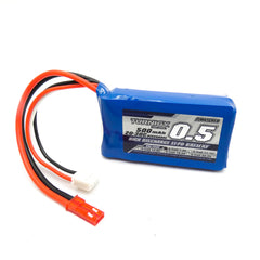 Turnigy 500mAh 2S LiPo Battery Pack 7.4V 20C 30C JST Connector Plug