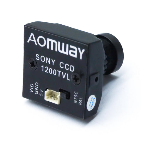Aomway 1200TVL CCD FPV Camera with 2.8mm Lens and Mount (Aluminum Case)
