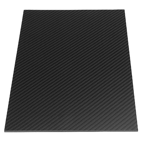 300x200x3mm Plain Weave Carbon Fiber Panel Sheet Low Gloss
