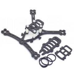 Nano 100X FPV Racing Drone Frame 3K Carbon Fiber Quadcopter Under 7g 100mm