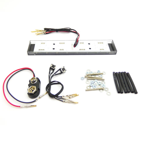 Turnigy 1/10 Scale RC Car LED Police Light Bar Kit with Hardware Rescue Vehicle