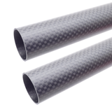 4pcs 25mm Pure 3K Carbon Fiber Round Tube 25x23x400mm 1mm Wall Thickness