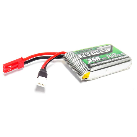4x 750mAh 1S 3.7V LiPo Battery 35C 70C Discharge Nano-Tech + 4-Port USB Charger