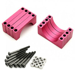 4 Sets 22mm 5mm Width CNC Aluminum Tube Clamp Mount (Red Anodized)
