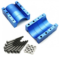 4 Sets 22mm 10mm Width CNC Aluminum Tube Clamp Mount (Blue Anodized)