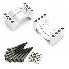 4 Sets 22mm 5mm Width CNC Aluminum Tube Clamp Mount (Silver Anodized)
