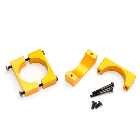 4 Sets 22mm CNC Aluminum Tube Clamp Mount (Gold Anodized)