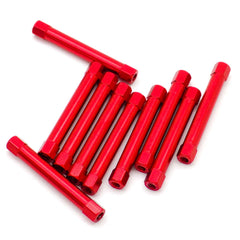10pcs M3x38mm Aluminum Spacer Standoff (Anodized Red)