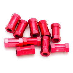 10pcs M3x10mm Aluminum Spacer Standoff (Anodized Red)