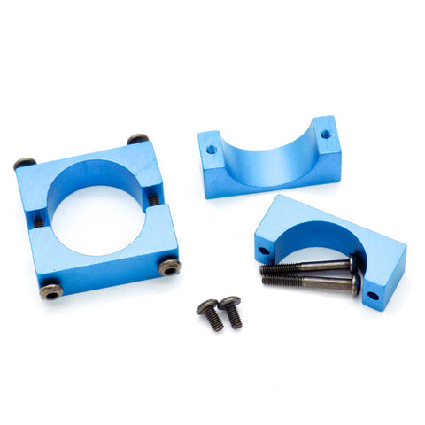 4SETS 20MM CNC ALUMINUM TUBE CLAMP MOUNT (BLUE ANODIZED)