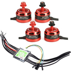 Racerstar BR2205 2-4S Brushless Motor Set with RS20X4 20A 4-in-1 ESC 2-4S Blheli_S