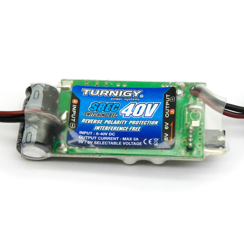 Turnigy 40v SBEC for 2-10S LiPo 8-40V Input to 5V/5A or 6V/5A Output