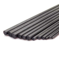 12pcs Pure Carbon Fiber Rod 3 Pieces Each 2mm 3mm 4mm 5mm 400mm Length Lightweight Spar Support Assortment