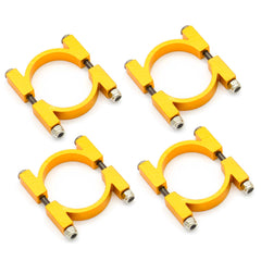 4SETS 25MM CNC ALUMINUM TUBE CLAMP MOUNT (GOLD ANODIZED)