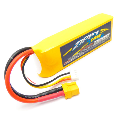Zippy Compact 2200mAh 3S 11.1v 25C~35C LiPo Battery Pack High Discharge XT60