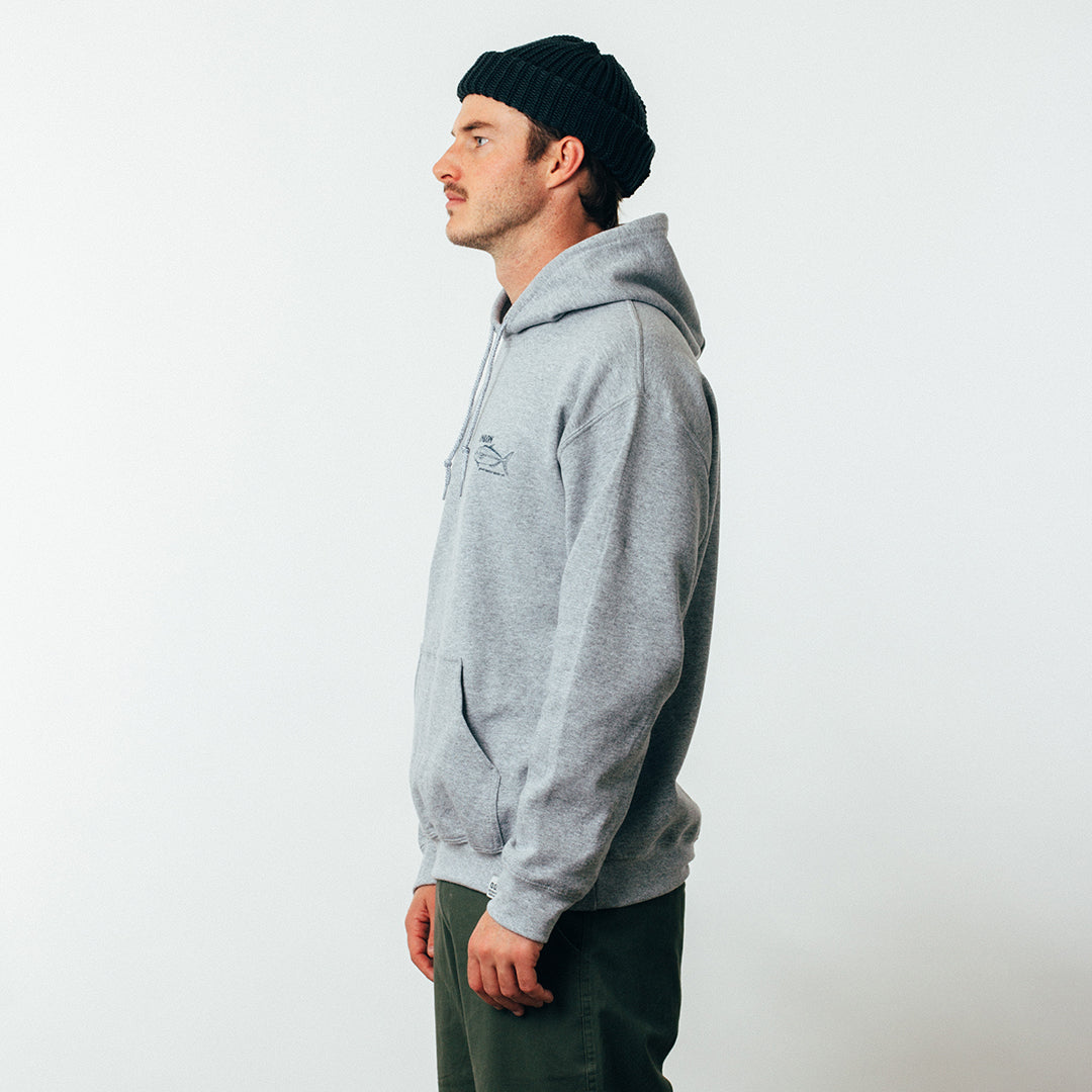 Hooded Sweat - King - Grey Marle