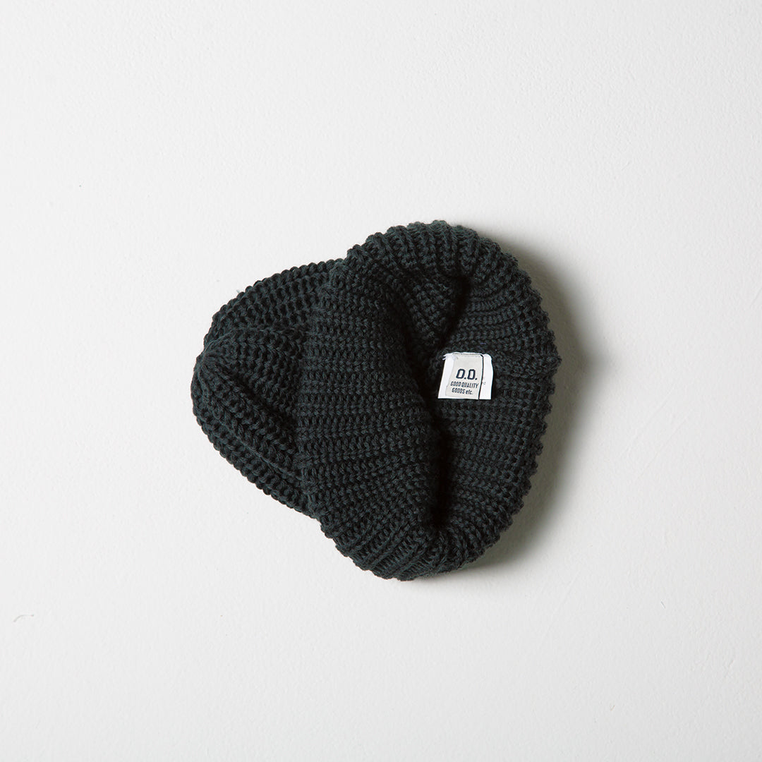 Fisherman Knit Beanie - Mud Green