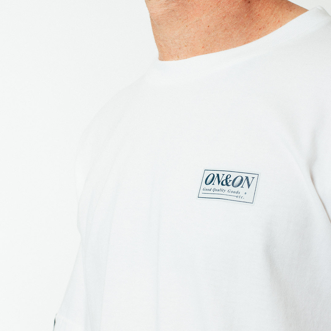 Bass Tee - Pin Print - White