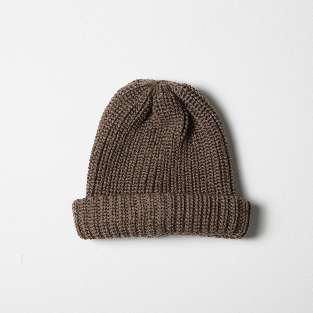 Fisherman Knit Beanie - Taupe