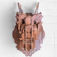 Chinese Dragon Wooden Head