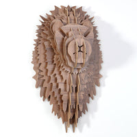 Lion Wooden Head
