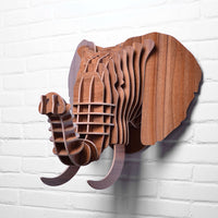 Elephant Wooden Head