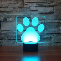 Dog Paws 3D Illusion Lamp