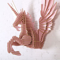 Flying Unicorn Wooden Head