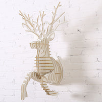 Running Deer Wooden Head