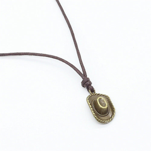 Casual Brown Rope With Alloy Bronze Pendant