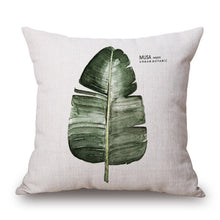 Watercolor Tropical Leaf Plant Print Pillowcase
