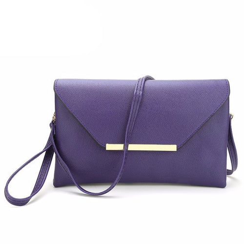 Purple Small Fashion Leather Bag and Clutch