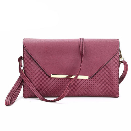 Red Small Fashion Leather Bag and Clutch