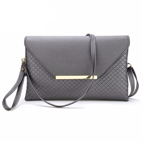 Gray Small Fashion Leather Bag and Clutch