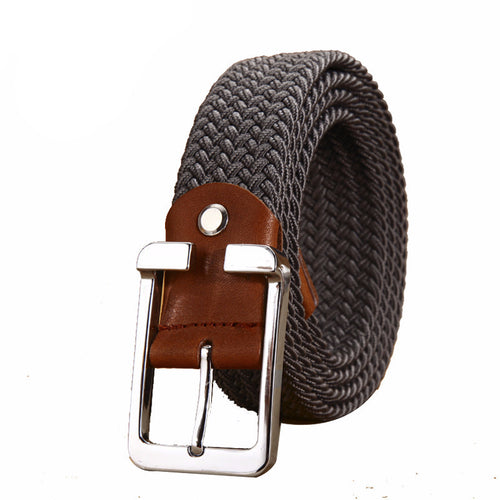 Unisex High Quality Knitted Canvas Belt