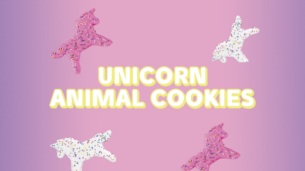 Frosted Unicorn Animal Cookies Recipe!